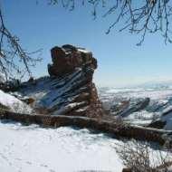 The Rock of Cronus, aka Picnic Rock, from the Trading Post backyard.
